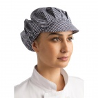 B257 Peaked Hat - Blue and White Check