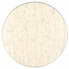 Werzalit Round Table Top Marble Bianco 600mm