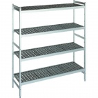 T240 Shelving Set With 2 Ends And 4 Shelves