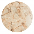 Werzalit Round Table Top Marble Onyx 600mm