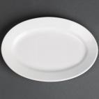 CG015 Classic White Oval Plate