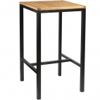 Wooden Square Poseur Height Table 600mm