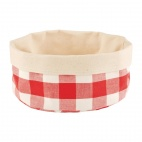 Bread Basket Round Small Red