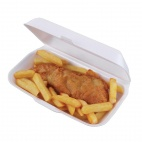 CK333 Foam Hinged Fish and Chip Trays