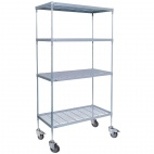 CE137 4 tier Nylon Coated Wire Shelving