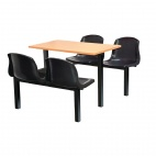 Four Seater Side Access Canteen Unit Beech and Black