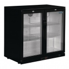 GL012 198 Ltr Reduced Height Double Hinged Door Bottle Cooler