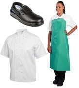 Clothing, Aprons & Footwear