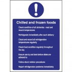 W197 Chilled and Frozen Foods Sign
