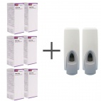 SALE OFFER 6 Rubbermaid Lotion Spray Soaps and 2 FREE Dispensers