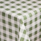 E663 Green Check Tablecloth