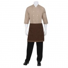 Soho Wide Half Bistro Apron with Colour Block Chocolate