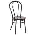 Steel Bentwood Style Black Side Chairs