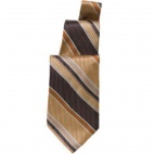 Brown and Gold Striped Tie