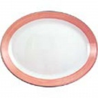 Rio Pink Oval Coupe Dishes 280mm