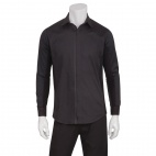 Mens Front Zip Shirt Black XS