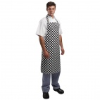 A275 Bib Apron - Black and White Check
