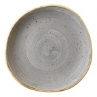 Churchill Stonecast Round Plates Peppercorn Grey 210mm