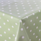 GL116 PVC Green Polka Dot Table Cloth L