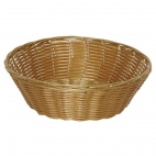 T363 Poly Wicker Round Food Basket