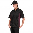 A950-M Contrast Shirt - Black and Merlot