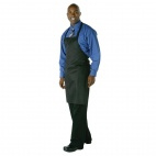 A924 Adjustable Bib Apron - Black