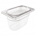 F576 Polycarbonate Gastronorm Pan - 1/9 One Ninth Size