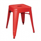DL870 Red Steel Bistro Low Stool (Pack of 4)