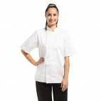 A211-XL Vegas Chefs Jacket (Short Sleeve) - White