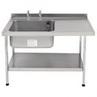 E20610RTPA 1200mm Stainless Steel Sink (Fully Assembled)
