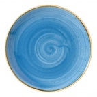 Churchill Stonecast Round Coupe Plates Cornflower Blue 165mm