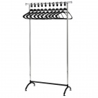 Chrome Coat Rack with Polypropylene Hangers
