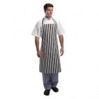 A558 Bib Apron - Black and White Stripe