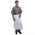 A925 Long Four Way Waist Apron - White