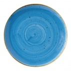 Churchill Stonecast Round Coupe Plates Cornflower Blue 217mm